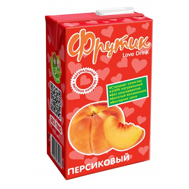 Сокосодержащий напиток ФРУТИК Персик 0.95 литра