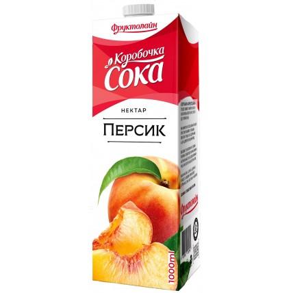 Нектар КОРОБОЧКА СОКА Персик 1 литр...
