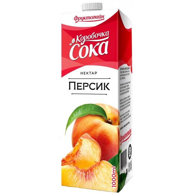 Нектар КОРОБОЧКА СОКА Персик 1 литр
