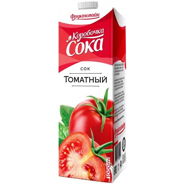 Сок КОРОБОЧКА СОКА Томат 1 литр