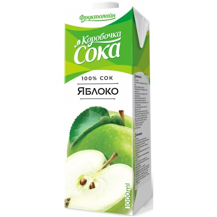 Сок КОРОБОЧКА СОКА Яблоко 1 литр...