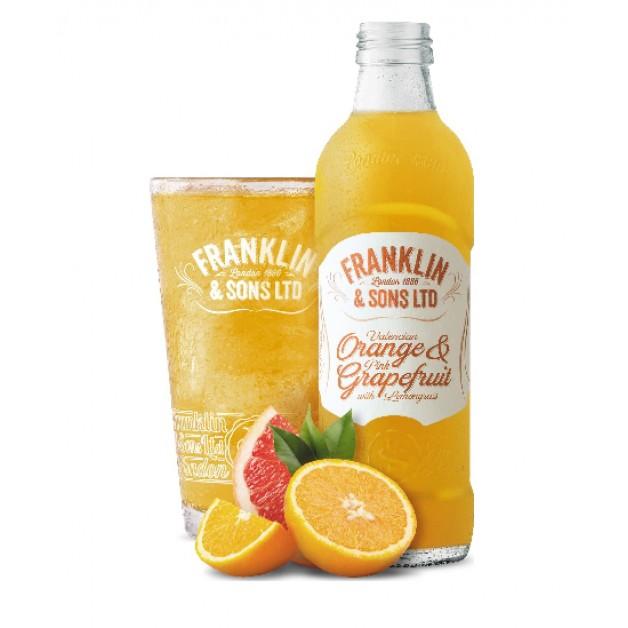 Лимонад Валенсийский Апельсин и Розовый Грейпфрут с лемонграсс стекло 0.275 литра