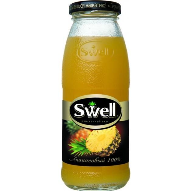 Сок СВЕЛЛ (SWELL) Ананас с мякотью стекло 0.25 литра