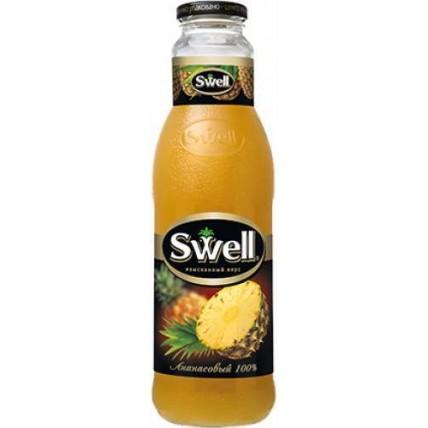 Сок СВЕЛЛ (SWELL) Ананас с мякотью стекло 0.75 литра...
